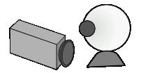 kuvituskuva, jossa kaksi kameraa